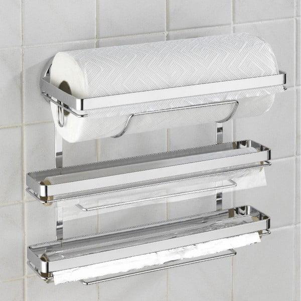 Potrójny uchwyt na ręczniki papierowe i folie kuchenne Wenko Trio