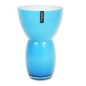 Szklany wazon Fornio, niebieski