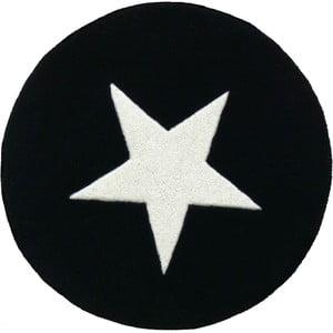 Wełniany dywan Star Black, 130 cm