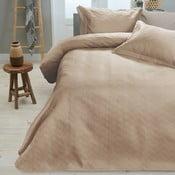 Kremowa narzuta na łóżko z 2 poszewkami na poduszki Sleeptime,260x250cm