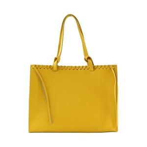 Skórzana torebka Linda, żółta