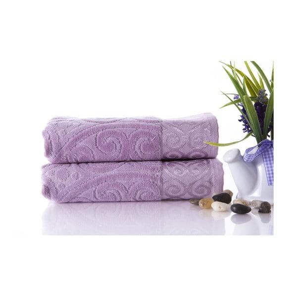 Zestaw 2 ręczników Hanzade Lilac, 50x90 cm