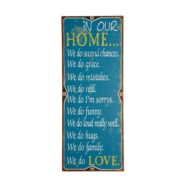 Tablica In our home, 76x31 cm