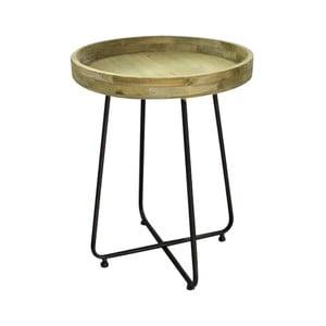 Stolik z metalu i drewna sosnowego Red Cartel, Ø 45 cm