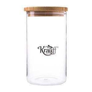 Szklany pojemnik Krauff Glass, 18 cm