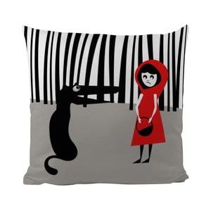 Poduszka Black Shake Red Hood, 50x50 cm