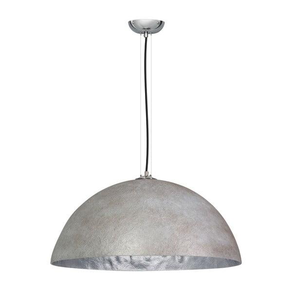 Szaro-srebrna lampa wisząca ETH Mezzo Tondo, ⌀ 70 cm