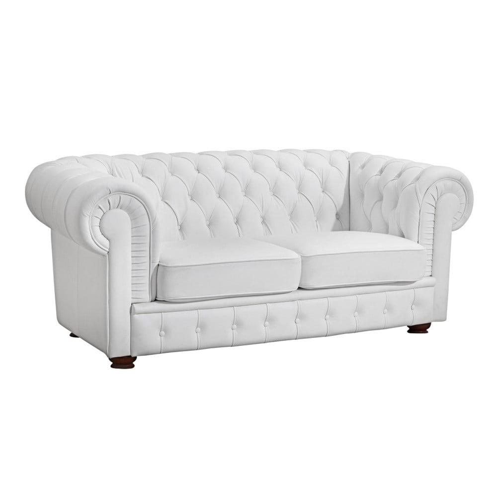Biała sofa 2-osobowa ze skóry ekologicznej Max Winzer Bridgeport