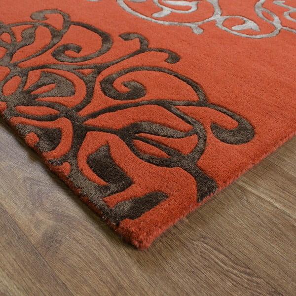 Wełniany dywan Matrix Tangier Terracotta 160x230 cm