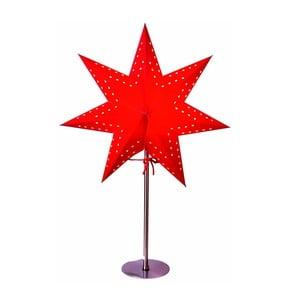Czerwona gwiazda świecąca ze stojakiem Best Season Bobo Red, 50 cm
