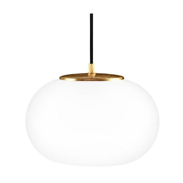 Szklana lampa wisząca ze złotą oprawką Sotto Luce DOSEI