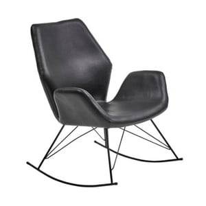 Czarny fotel na biegunach House Nordic Nybro