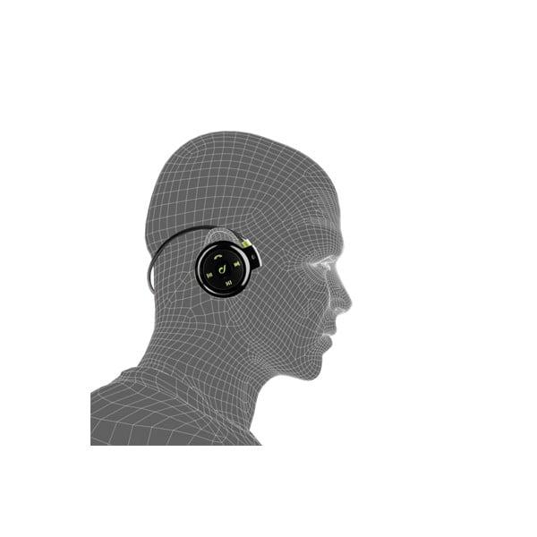 Sportowe, bezprzewodowe, ergonomiczne słuchawki CellularLine, czarno-zielone