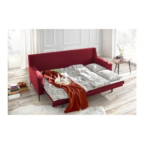 Czerwona sofa rozkładana Bobochic Paris Bergen