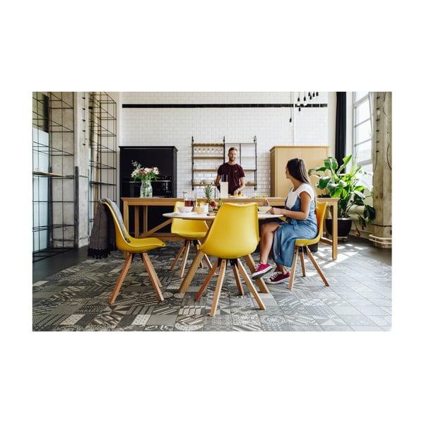 Szare krzesło z konstrukcją z drewna bukowego loomi.design Eco