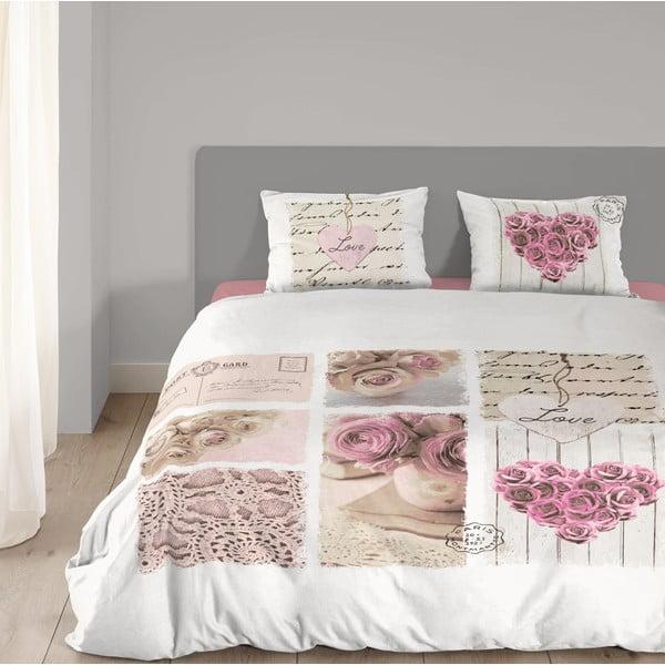 Biała pościel bawełniana Muller Textiel Romantic, 135x200 cm