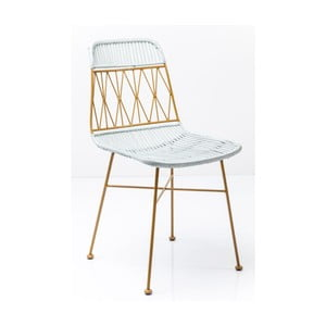 Żółto-białe krzesło do jadalni Kare Design Ko Samui