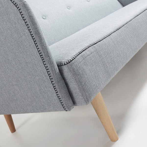 Jasnoszara sofa rozkładana La Forma Kail