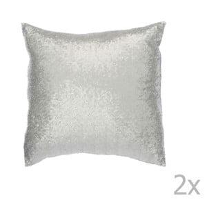 Zestaw 2 srebrnych poduszek ozdobnych J-Line Sequin, 40x40 cm