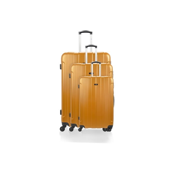 Zestaw 3 walizek Roues Cadenas Orange, 105 l/72 l/40 l