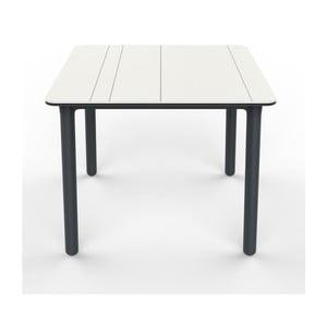 Szaro-biały stół ogrodowy Resol NOA, 90x90cm