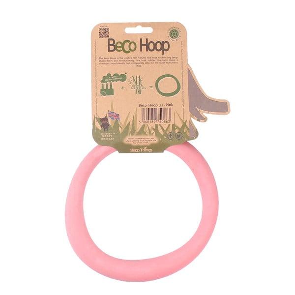 Obręcz, zabawka dla psa Hoop Large, różowa