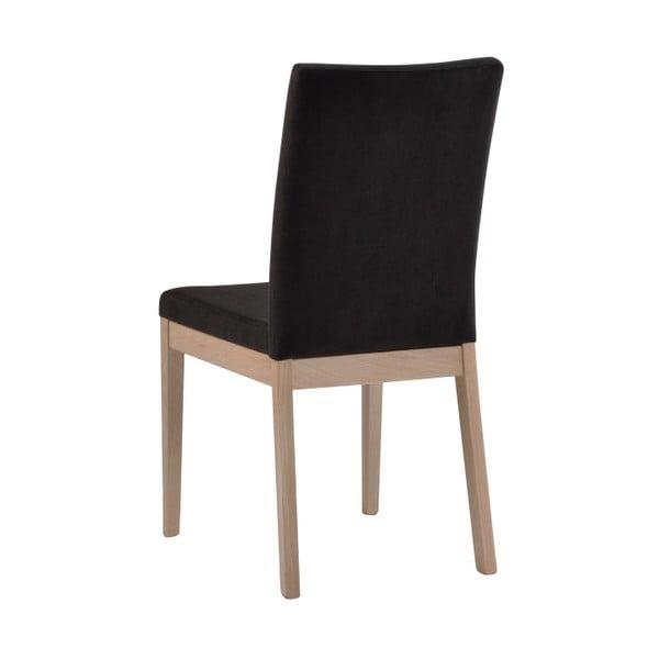 Zestaw 2 ciemnoszarych krzeseł z drewna dębowego Folke Svalbard