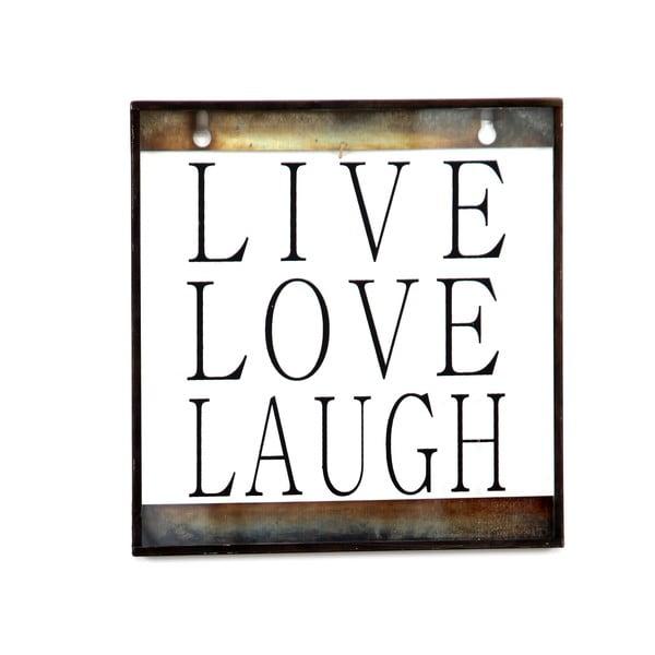 Szklana tabliczka z napisem Love, 20x20 cm
