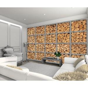 Tapeta wielkoformatowa Drewniane polana, 315x232 cm