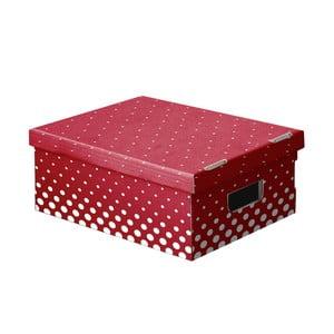 Zestaw 3 pudełek Ordinett New Red, 52x29 cm