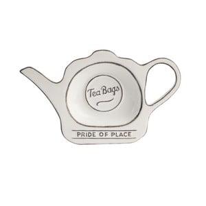 Biały spodek ceramiczny na torebki po herbacie T&G Woodware Pride of Place