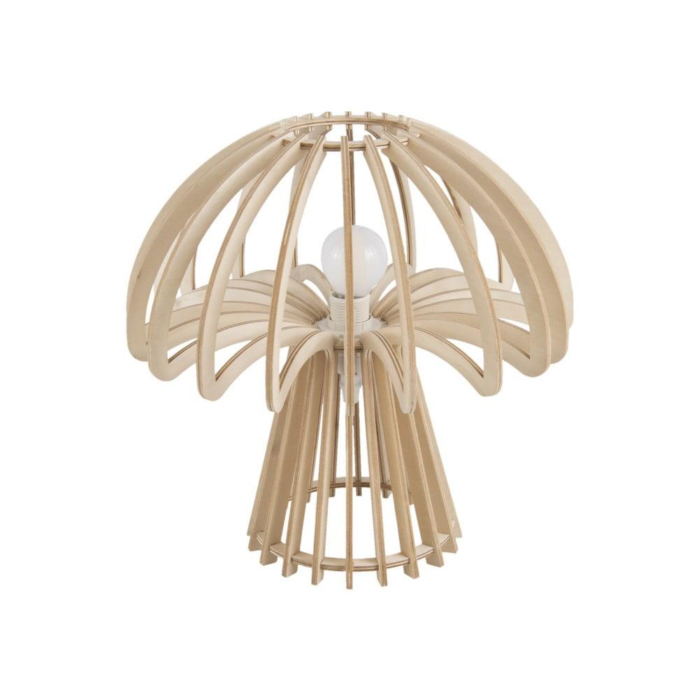 Składana drewniana lampa stołowa Leitmotiv Traditional Mushroom