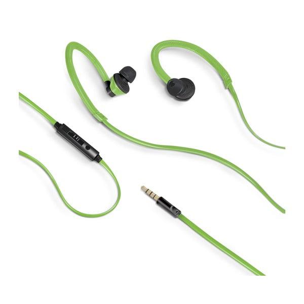 Słuchawki sportowe Celly z mikrofonem, zielone