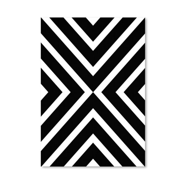 Plakat Geometric White Black