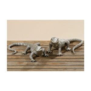 Zestaw 2 dekoracyjnych statuetek Lizards