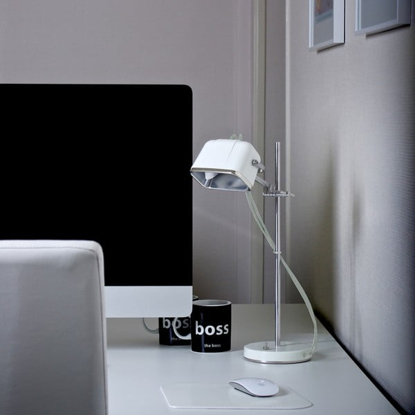 Lampa stołowa Mob, biała