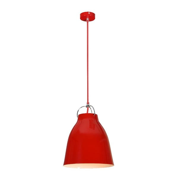 Lampa sufitowa Pensilvania, czerwona