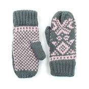 Różowo-szare rękawiczki Candy