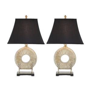 Zestaw 2 lamp stołowych Gabriella Circle