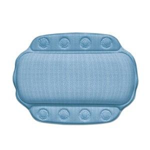 Niebieska poduszka pod szyję do wanny Kela Kreta, 32x23cm