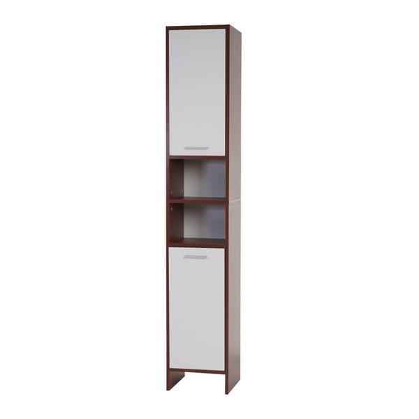 Szafka łazienkowa Sonoma Brown/White, 31,5x179 cm