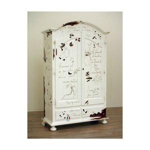 Biała szafa drewniana Castagnetti Diary