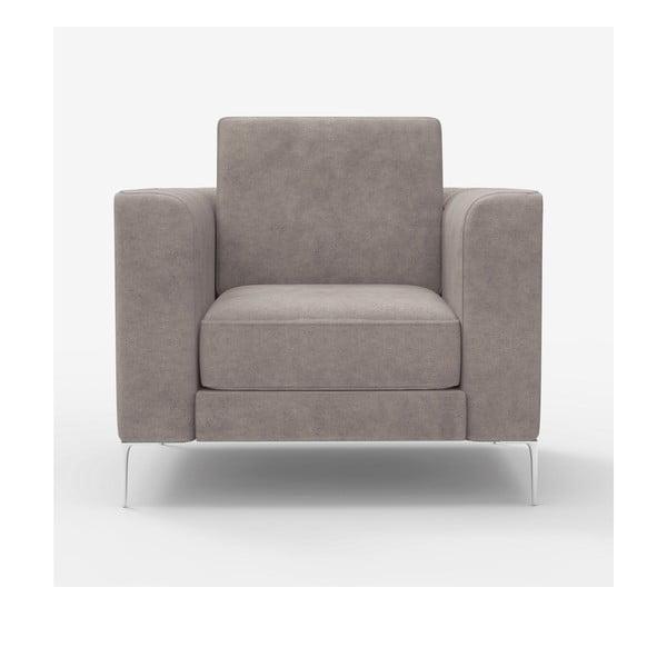 Fotel Miura Munich, pokrycie ciemnoszare, zamszowe