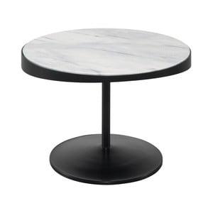 Stolik z marmurowym blatem Wewood-Portuguese Joinery Drop, Ø 60 cm