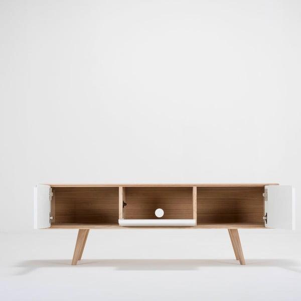 Dębowa   szafka pod TV Ena, 135x55x45 cm