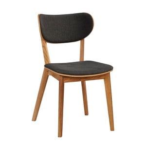 Zestaw 2 szarych krzeseł z drewna dębowego Folke Cato