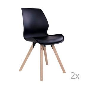 Zestaw 2 czarnych krzeseł House Nordic Rana