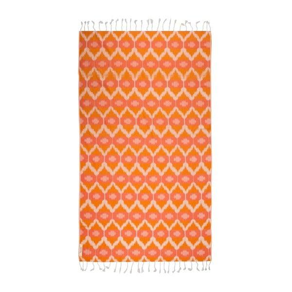 Ręcznik hammam Ripple Orange, 95x180 cm