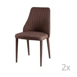 Zestaw 2 brązowych krzeseł sømcasa Dora
