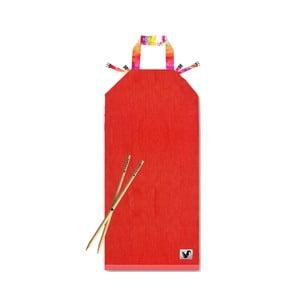 Czerwony leżak plażowy Origama Aqua